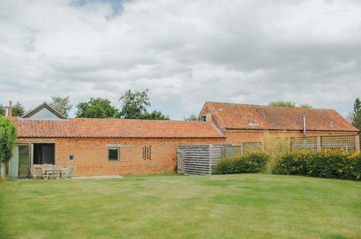 View of Quaker Barn. Modern barn conversion in Norfolk, available to hire