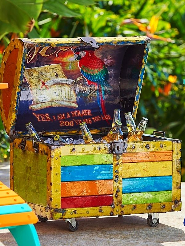 Handcrafted From Recycled Oil Drums And Painted In Tropical Colors, This  Remarkable Beverage Tub Makes A Swashbuckling Addition To Any Party.