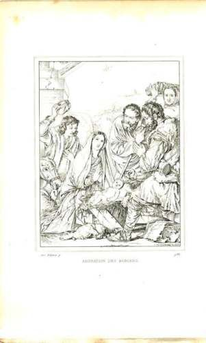 1832-Adoration-Of-The-Shepherds-Ribera-French-Museum-Engraved-Plate