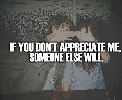 Don't take people for granted...