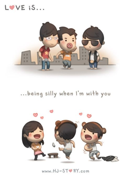 HJ-Story :: Love is... being silly when I'm with you - Very much like my husband :)