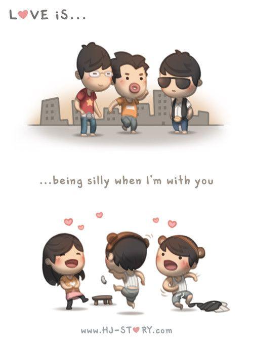 sendo boba quando eu estou com você