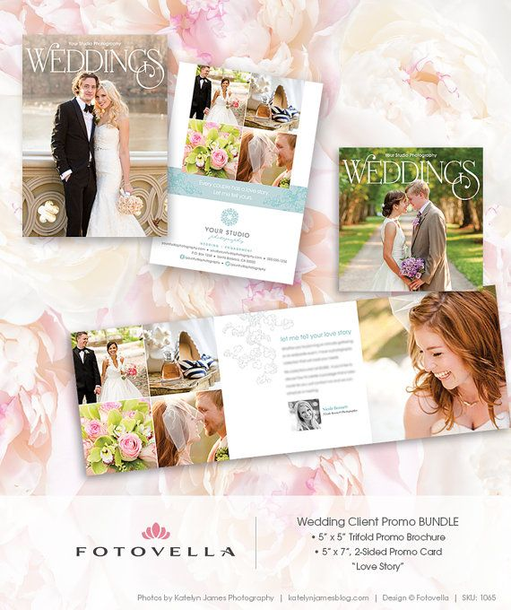 80 wedding photography marketing 5x7 promo card plus 5x5 trifold brochure template 1065 via