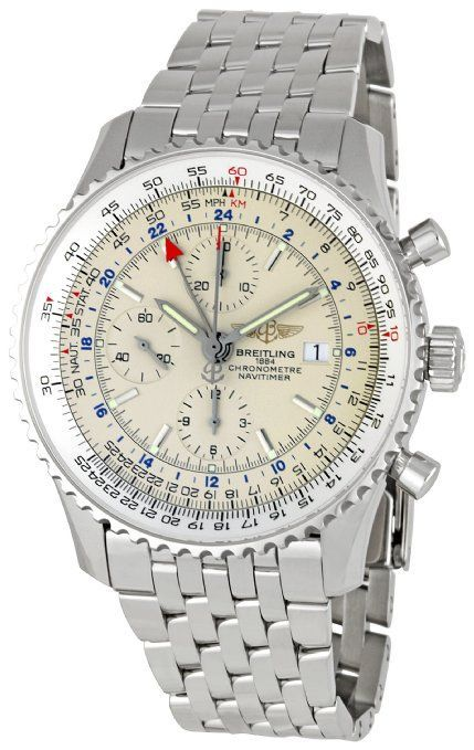 Breitling Men's A2432212-G571 Navitimer World Chronograph Watch With Automatic-Self-Wind