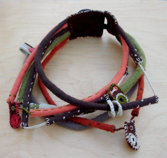 Textile chocker - www.kjoo.etsy.com