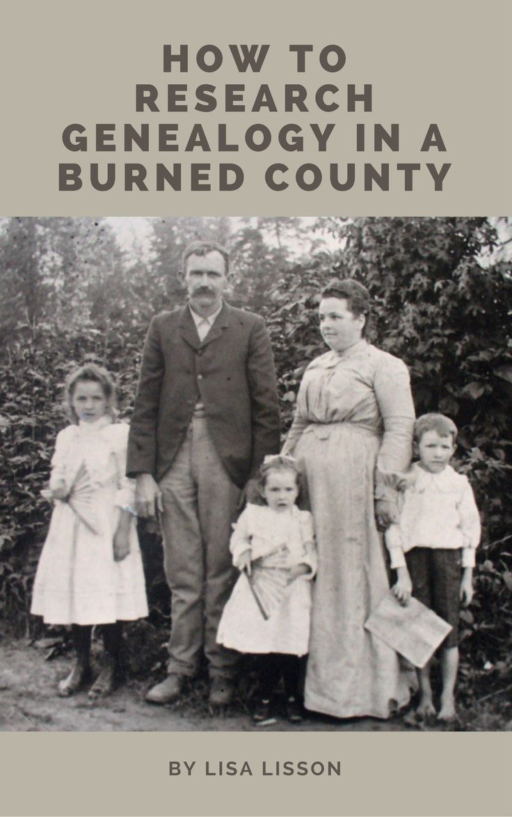 Researching  individuals who lived in a burned county can be quite a challenge! But…..it does not have to be an impossible task. Using strategies to analyze your ancestor's life alongside non-county records, you can be successful in learning more about them.