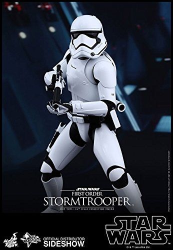 Hot Toys First Order Stormtrooper  The First Order Stormtrooper Sixth Scale Collectible Figure specially features: Authentic and detailed likeness of First Order Stormtrooper in Star Wars: The Force Awakens Approximately 30 cm tall Body with over 30 points of articulation Seven (7) pieces of interchangeable gloved palms including: – One (1) pair of fists – One (1) pair of relaxed palms – One (1) pair of palms for holding weapons – One (1) gesturing left palm Costume: One (1) newly de..