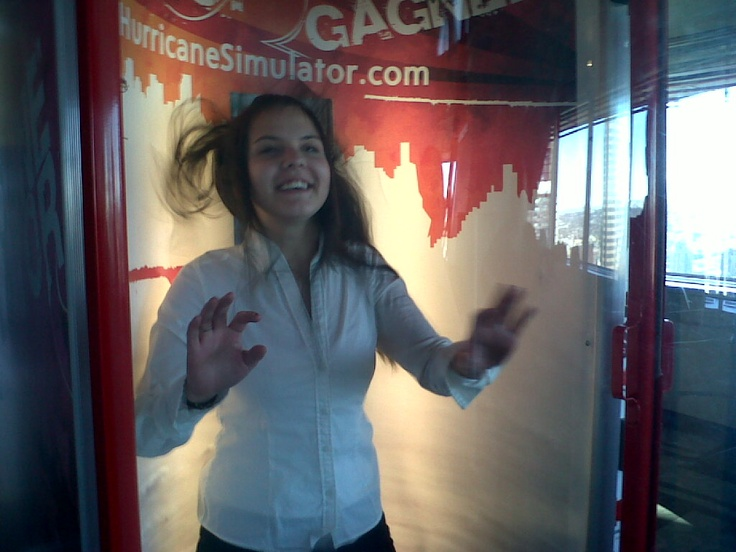 Hurricane Simulator at the top of the Calgary Tower