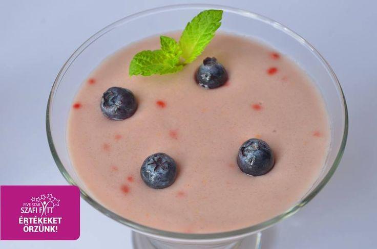 Gluténmentes Szafi Fitt diétás eperpuding recept (light paleo)
