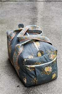 pattern for homemade duffel bags!  cute!  be great for sleepovers....
