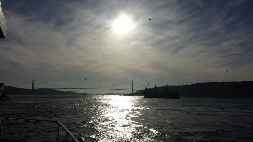 Sunset on the Bosphorus sea