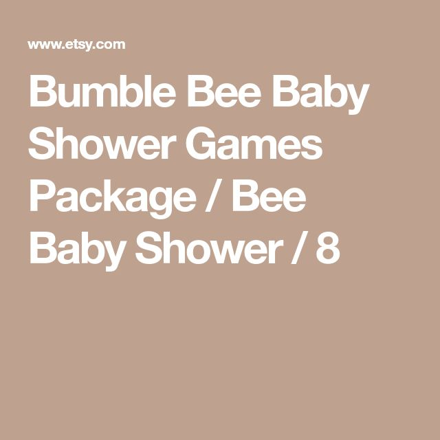 Bumble Bee Baby Shower Games Package / Bee Baby Shower / 8