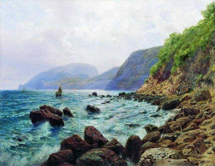 Вид на Аю-Даг от Алушты. Лагорио Лев Феликсович (1827-1905)
