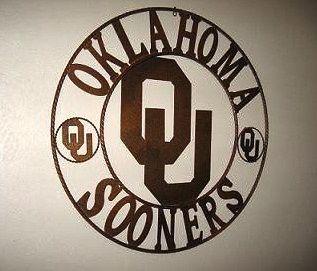 Oklahoma Sooner Metal wall art