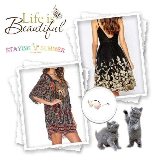 """STAYINGSUMMER 5."" by qara-c ❤ liked on Polyvore featuring Brewster Home Fashions"