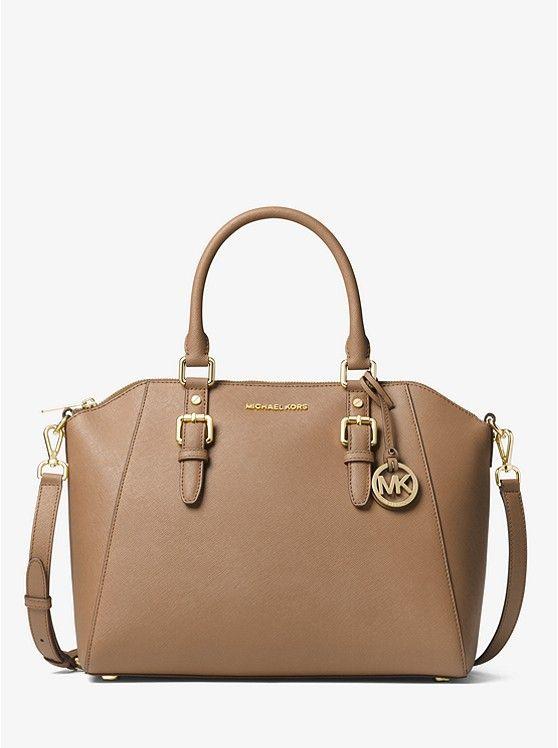 fd7c7cf0f0 Ciara Large Saffiano Leather Satchel  298