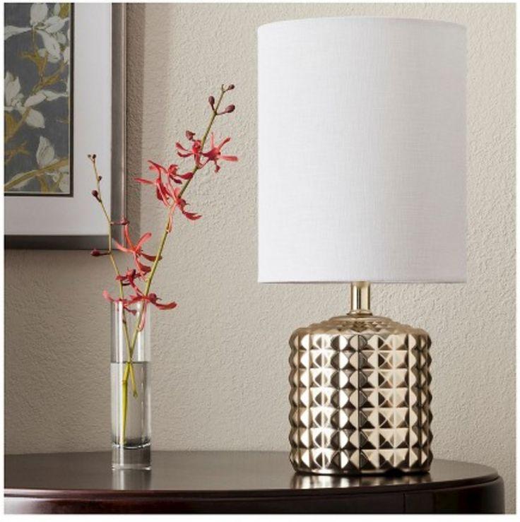 Gold Plated Geometric Ceramic Table Lamp - Threshold™ (Target)