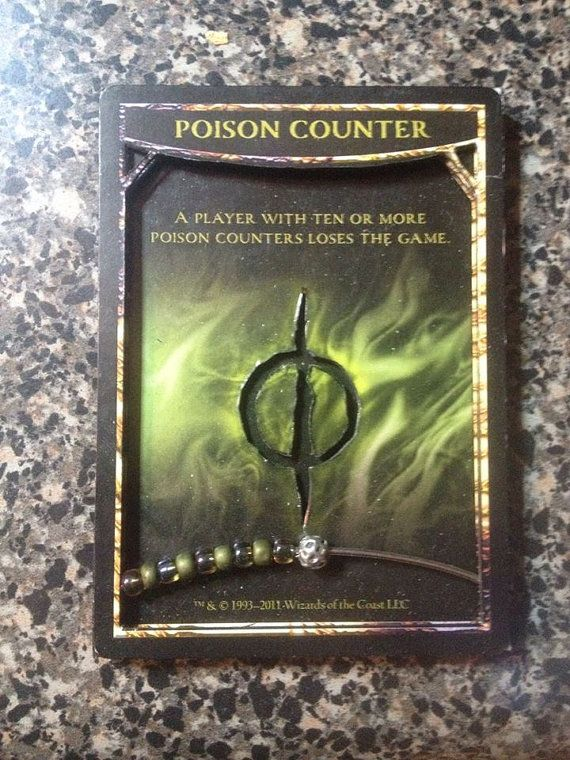 Mtg 3d Poison Counter Abacus Magic Pinterest D 3d