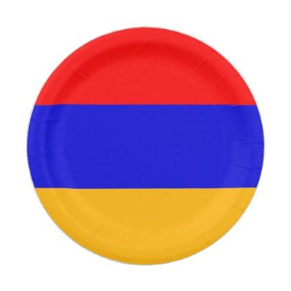 Patriotic paper plate with flag of Armenia - home gifts ideas decor special unique custom individual customized individualized