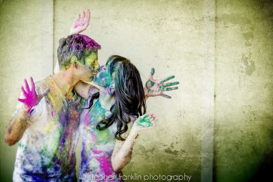 Playfully Painted Couple