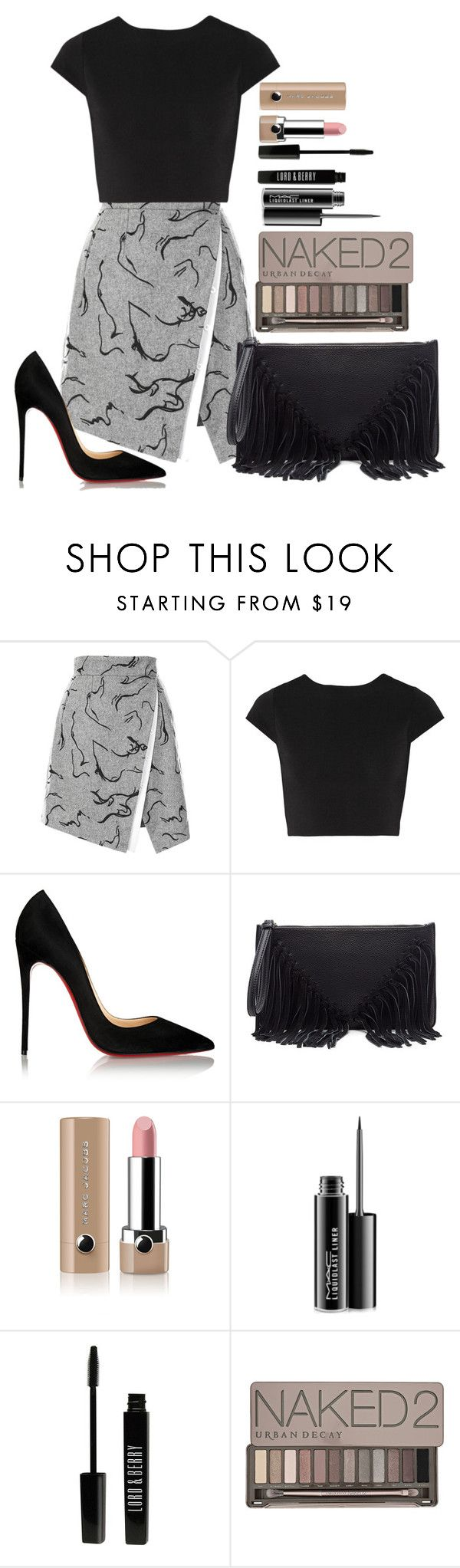 """Untitled #1402"" by fabianarveloc on Polyvore featuring Alice + Olivia, Christian Louboutin, Sole Society, Marc Jacobs, MAC Cosmetics, Lord & Berry, Urban Decay, women's clothing, women and female"