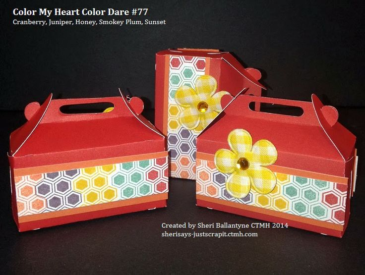 Color My Heart Color Dare treat boxes sherisays-justscrapit.blogspot.ca #ctmh