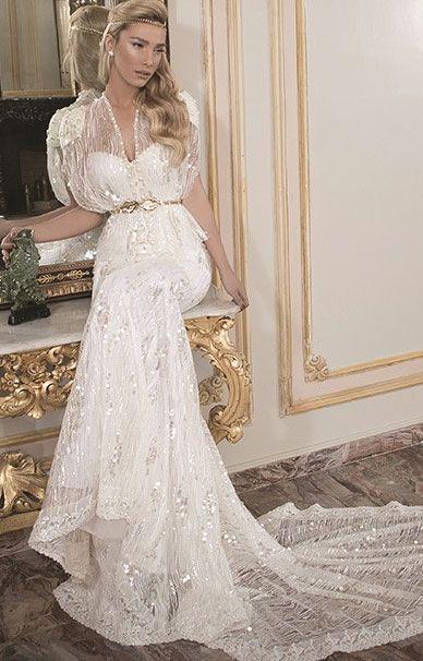 Свадебные платья Daniel Romi Kadosh с крупным жемчугом | смотреть фото цены купить