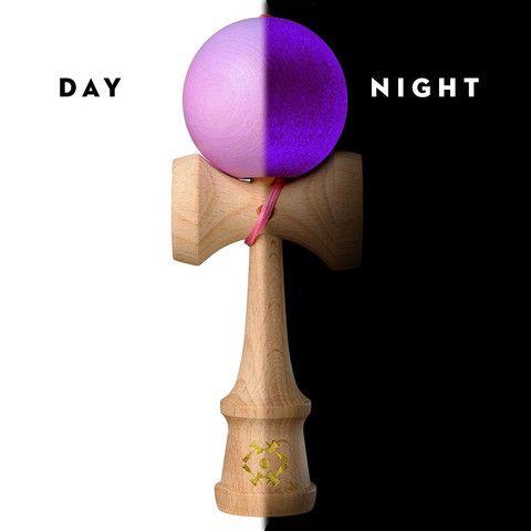 Kendama USA - The Cook - Glow In The Dark - Pink Ball Glows Purple