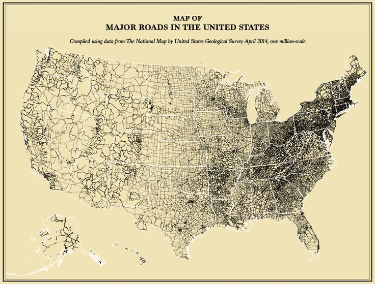 Major Roads In The Us