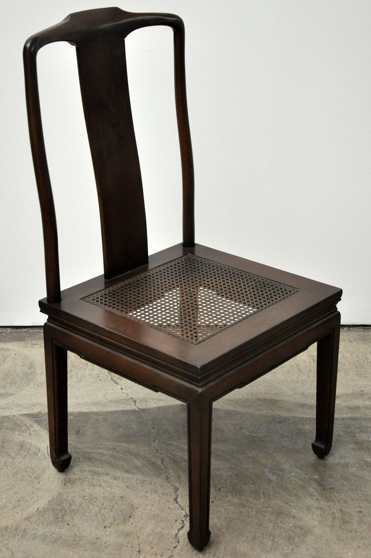 Set of Six Henredon Asian Dining Chairs | From a unique collection of antique and modern dining room chairs at https://www.1stdibs.com/furniture/seating/dining-room-chairs/