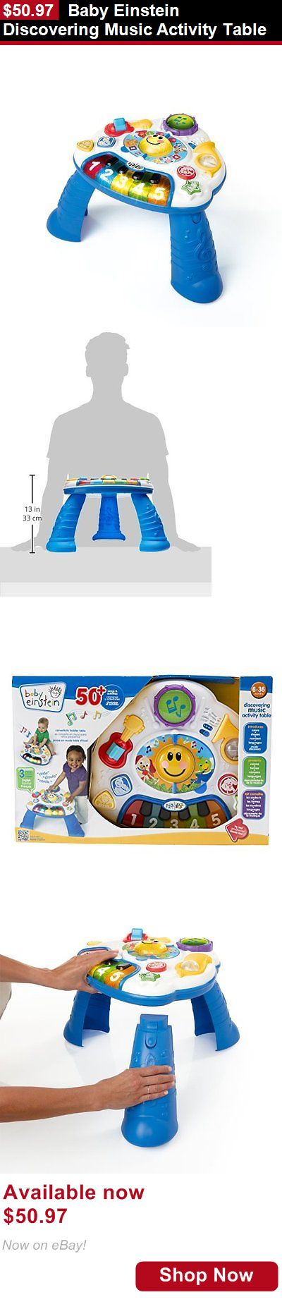 Baby activity centers: Baby Einstein Discovering Music Activity Table BUY IT NOW ONLY: $50.97