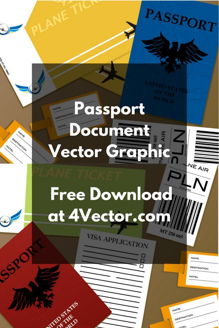 Passport documents vector graphic available for free download at 4vector.com. Check out our collection of more than 180k free vector graphics for your designs. #design #freebies