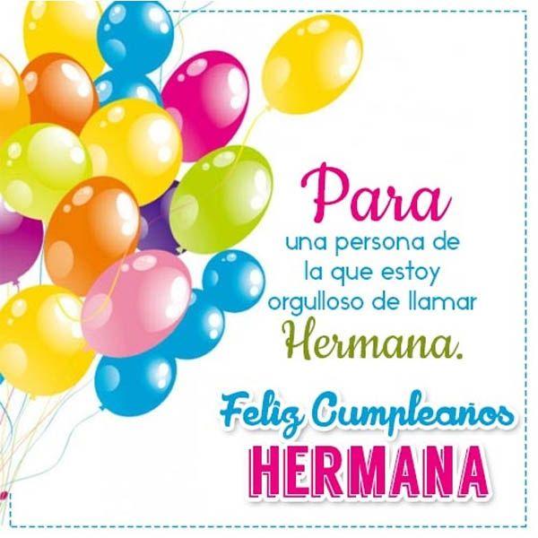 Postales Con Palabras De Cumpleaños Para Una Hermana Tarjetas De Cumpleaños Para Hermana Palabras De Cumpleaños Felicitacion Cumpleaños Hermana