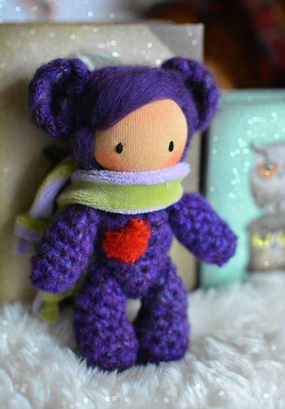 Waldorf doll waldorf pocket doll crochet bear amigurumi