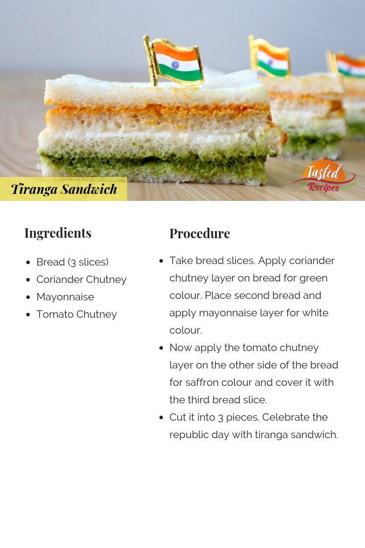 Tiranga Sandwich Tri Colour Sandwich Tastedrecipes Recipe Food Tasting Sandwich Ingredients Banana Almond Milk Smoothie