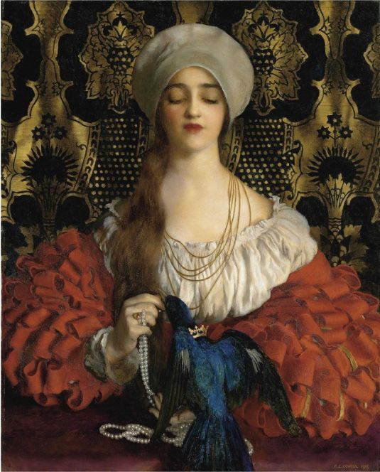 """The Blue Bird"", 1888 ~ by Frank Cadogan Cowper (1877-1928, English)"