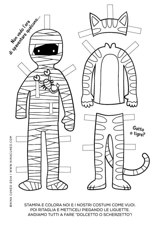 Halloween paper dolls for kids - page 2