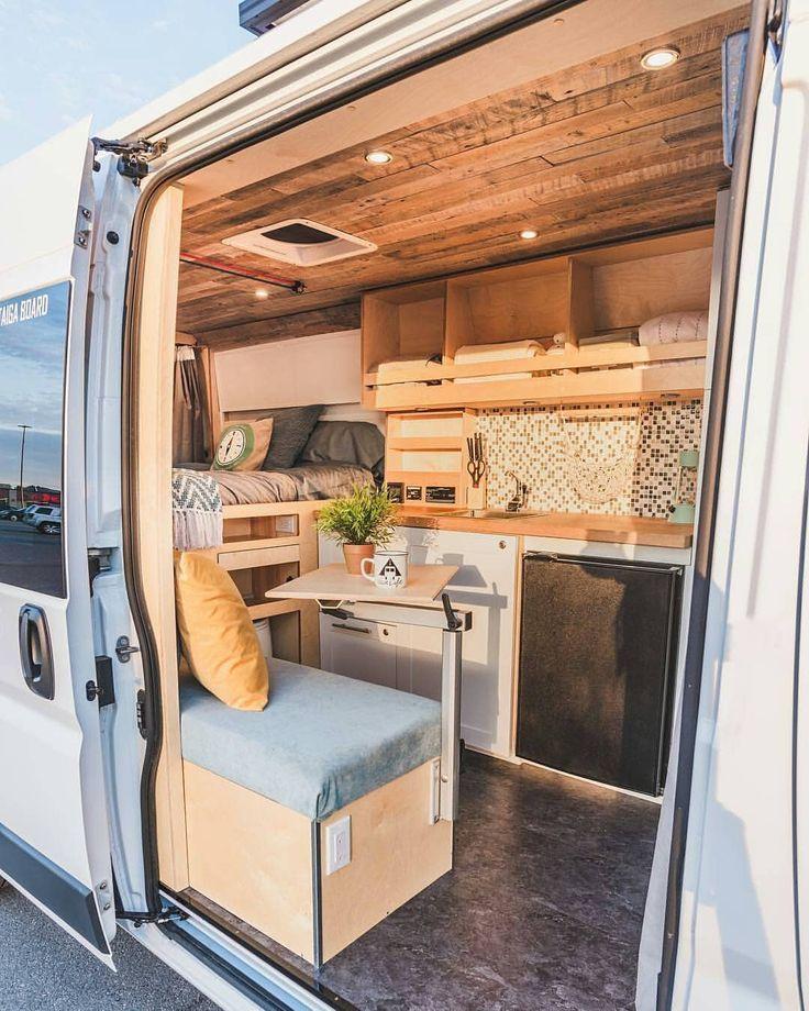 32 umwerfende Ideen für den Umbau von Reisemobilen – Denis Paquet – #den #Deni … #WoodWorking