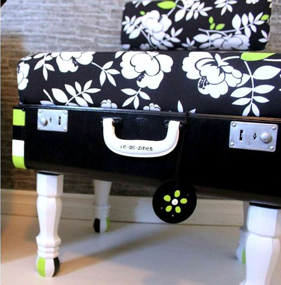 Decorating With Antique Suitcases | Decorating Ideas for Travel Addicts: Vintage Suitcase Tables | Taken ...