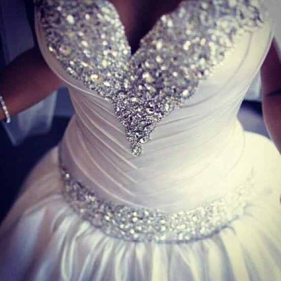 Wedding day sparkles