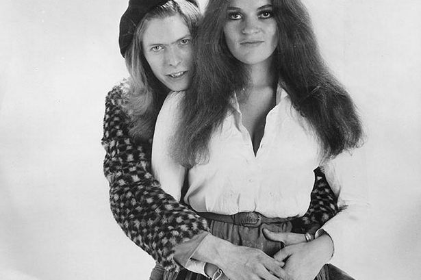 1970: David Bowie with singer Dana Gillespie