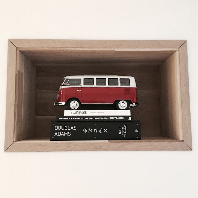 Built in bookcase, VW van