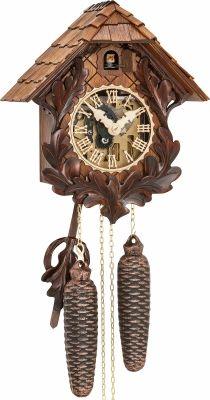 """Reloj de cuco estilo """"Madera tallada"""" movimiento mecánico de 8 días 27cm de Hubert Herr"""