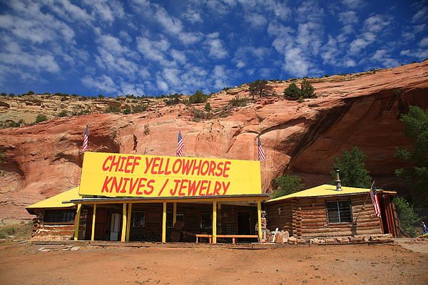 Route 66. The Chief Yellowhorse Trading Post of Lupton, Arizona, an old Rt. 66 favorite.