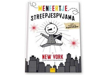 Grappig voorleesboek 'meneertje streepjespyjama in new york'. Met het transparante inlegvel (magische beweegplaat!) komen de illustraties onder je vingers tot leven: auto's beginnen te rijden, wielen draaien, voetgangers lopen rond, blaadjes dwarrelen ... Dit is pure magie! Clavis   kinderen-shop Kleine Zebra