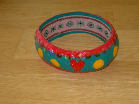 [Papel mache] Pulseira 2 | Flickr - Photo Sharing!