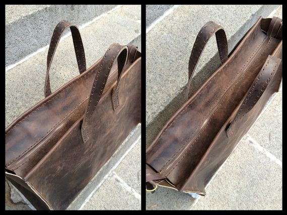Leather holdall mens, Large travel bag, Leather overnight bag mens, Weekend holdall, Weekender bag for men, Custom made in NY by hand. More handmade leather travel bags, duffles, overnight bags, weekend bags, holdalls, carryalls, weekenders, luggage here: http://etsy.me/1eYE4hv