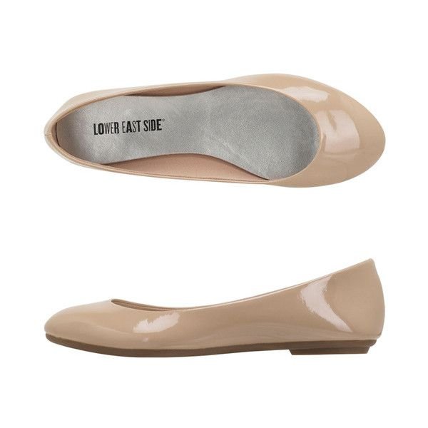 Women's Chelsea Flat ($20) ❤ liked on Polyvore featuring shoes, flats, nude, ballet pumps, nude flat shoes, ballerina pumps, flexible ballet flats and ballerina shoes
