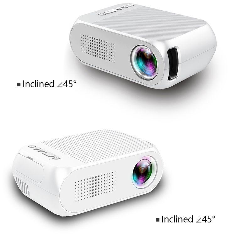 Proyector LCD portátil YG320, soporte de video HD para cine en casa / juegos / TV - Negro (enchufe de la UE)