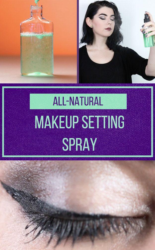 DIY Makeup-Setting Spray